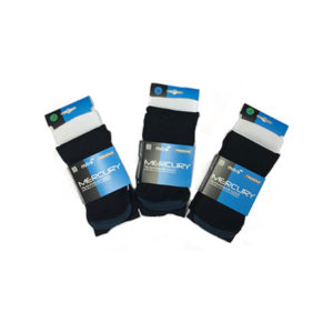 Duchy Hockey Black & White Hooped Socks