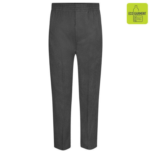 Grey Full Elastic Pull-Up Trouser
